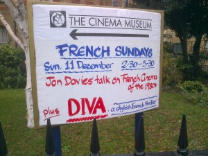 Sign outside Cinema Museum